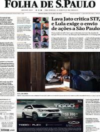 Capa Folha de S.Paulo 2018-04-26