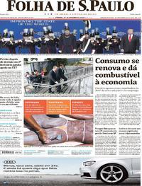 Capa do jornal Folha de S.Paulo 27/01/2018