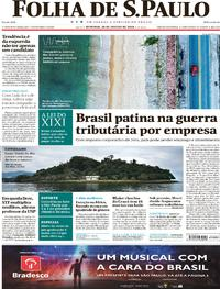 Capa do jornal Folha de S.Paulo 28/01/2018