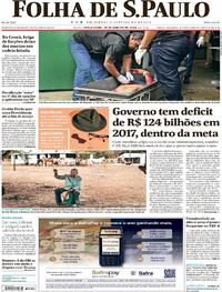 Capa do jornal Folha de S.Paulo 30/01/2018