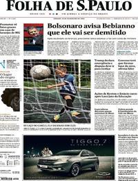 Capa Folha de S.Paulo 2019-02-16