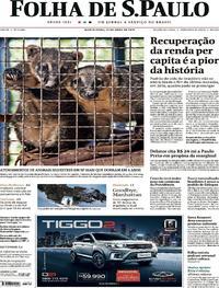 Capa Folha de S.Paulo 2019-04-25