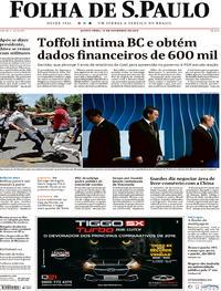 Capa Folha de S.Paulo 2019-11-14