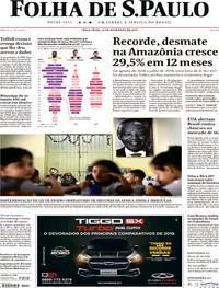 Capa Folha de S.Paulo 2019-11-19