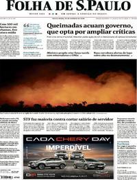 Capa Folha de S.Paulo 2019-08-23