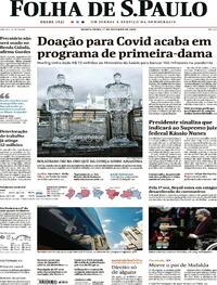 Capa do jornal Folha de S.Paulo 01/10/2020