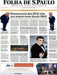 Capa do jornal Folha de S.Paulo 01/11/2020