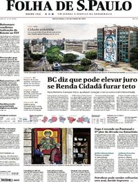 Capa do jornal Folha de S.Paulo 02/10/2020