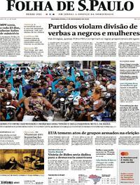 Capa do jornal Folha de S.Paulo 02/11/2020