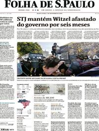 Capa do jornal Folha de S.Paulo 03/09/2020
