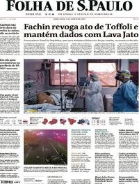 Capa do jornal Folha de S.Paulo 04/08/2020