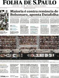 Capa do jornal Folha de S.Paulo 05/04/2020