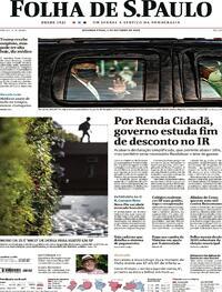 Capa do jornal Folha de S.Paulo 05/10/2020