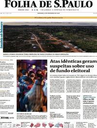 Capa do jornal Folha de S.Paulo 06/09/2020