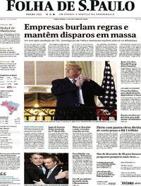 Capa do jornal Folha de S.Paulo 06/10/2020