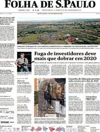 Capa do jornal Folha de S.Paulo 07/10/2020