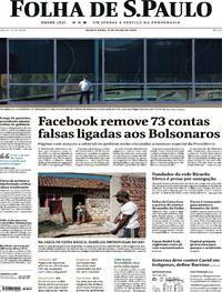 Capa do jornal Folha de S.Paulo 09/07/2020