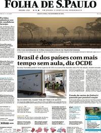 Capa do jornal Folha de S.Paulo 09/09/2020