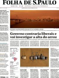 Capa do jornal Folha de S.Paulo 10/09/2020
