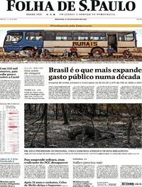 Capa do jornal Folha de S.Paulo 11/10/2020