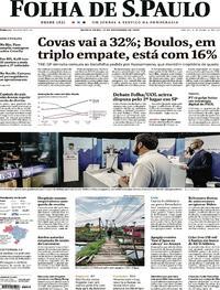 Capa do jornal Folha de S.Paulo 12/11/2020