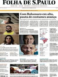 Capa do jornal Folha de S.Paulo 13/09/2020