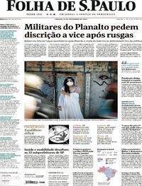 Capa do jornal Folha de S.Paulo 14/11/2020