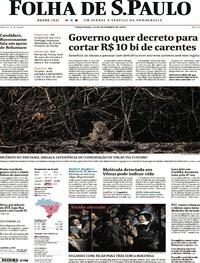 Capa do jornal Folha de S.Paulo 15/09/2020