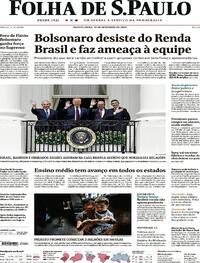 Capa do jornal Folha de S.Paulo 16/09/2020