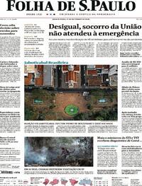Capa do jornal Folha de S.Paulo 17/09/2020
