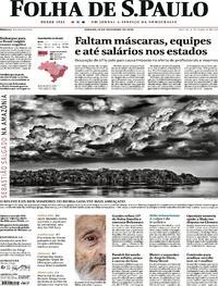 Capa do jornal Folha de S.Paulo 19/12/2020
