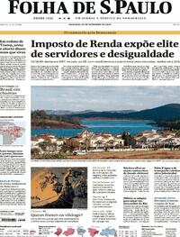 Capa do jornal Folha de S.Paulo 20/09/2020