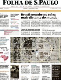 Capa do jornal Folha de S.Paulo 20/12/2020