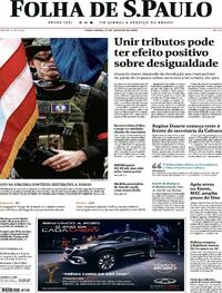 Capa Folha de S.Paulo 2020-01-21