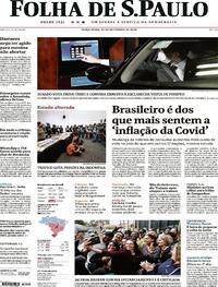 Capa do jornal Folha de S.Paulo 22/09/2020