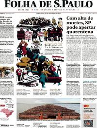 Capa do jornal Folha de S.Paulo 22/12/2020