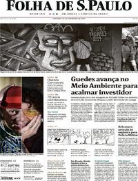 Capa Folha de S.Paulo 2020-02-23