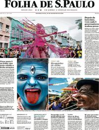 Capa Folha de S.Paulo 2020-02-24