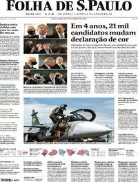 Capa do jornal Folha de S.Paulo 25/09/2020