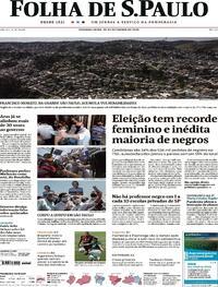 Capa do jornal Folha de S.Paulo 28/09/2020