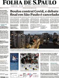 Capa do jornal Folha de S.Paulo 28/11/2020