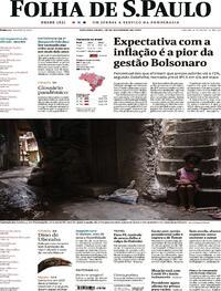 Capa do jornal Folha de S.Paulo 28/12/2020