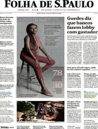 Capa do jornal Folha de S.Paulo 30/10/2020