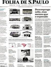 Capa do jornal Folha de S.Paulo 30/12/2020