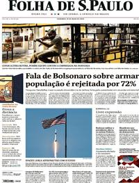 Capa do jornal Folha de S.Paulo 31/05/2020