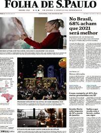 Capa do jornal Folha de S.Paulo 01/01/2021
