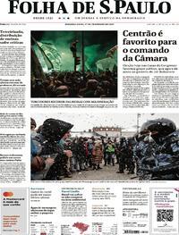 Capa do jornal Folha de S.Paulo 01/02/2021