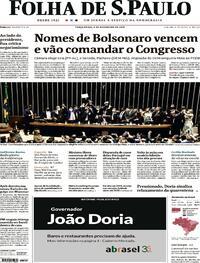 Capa do jornal Folha de S.Paulo 02/02/2021