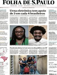 Capa do jornal Folha de S.Paulo 03/01/2021