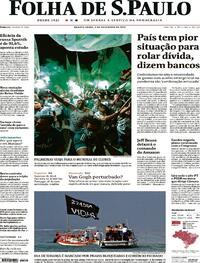Capa do jornal Folha de S.Paulo 03/02/2021